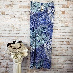 NWT Zen Knits XS Floral Tropical Print Maxi Skirt